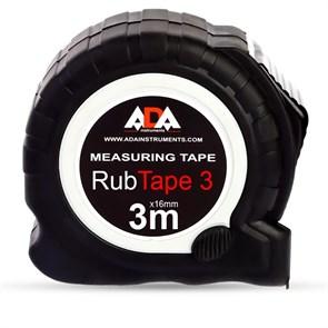 Рулетка ударопрочная ADA RubTape 3 с полимерным покрытием ленты (сталь, с двумя СТОПами, 3 м)