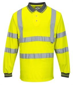 Светоотражающая рубашка-поло Portwest S277 жёлтая