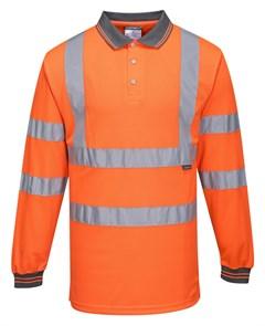 Светоотражающая рубашка-поло Portwest S277 оранжевая