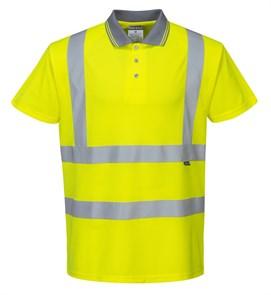 Светоотражающая футболка-поло Portwest S477 жёлтая