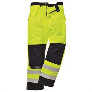 Антистатические огнеупорные брюки Portwest FR62. Цвет сине-жёлтый.