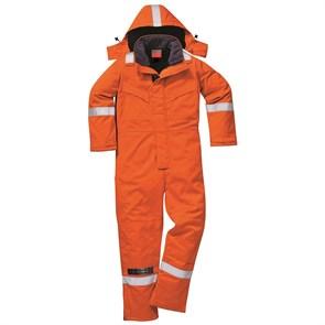 Огнеупорный антистатический зимний комбинезон Portwest FR53, Оранжевый
