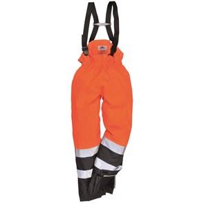 Огнеупорный антистатический зимний п/комбинезон Portwest S782,оранжевый-синий