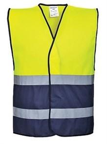 Сигнальный жилет Portwest C484, желтый/темно-синий