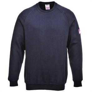 Огнестойкий антистатический свитер с длинными рукавами Portwest FR12. Тёмно-синий.