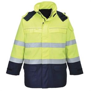 Антистатическая огнеупорная куртка Portwest FR79. Желтый/темно-синий