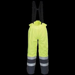 Антистатические огнеупорные брюки Portwest FR78. Цвет сине-жёлтый.