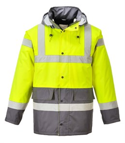 Зимняя светоотражающая куртка Portwest S466, желтый/серый