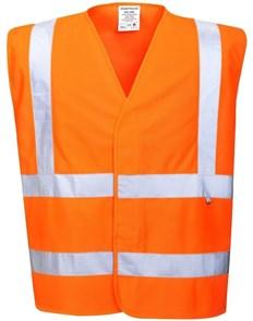 Огнеупорный сигнальный жилет Portwest FR75, Оранжевый