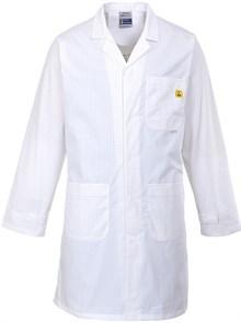 Антистатический халат Portwest AS10, белый