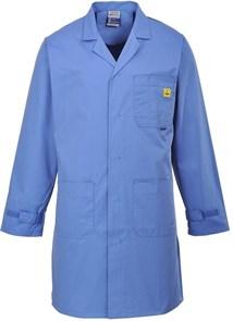 Антистатический халат Portwest AS10, синий