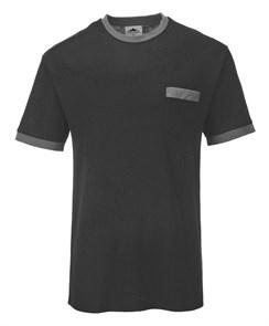 Футболка Portwest TX22, Чёрный / серый