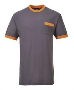 Футболка Portwest TX22, Серый / оранжевый