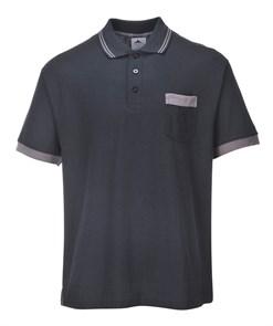 Футболка-поло Portwest TX20, Чёрный / серый