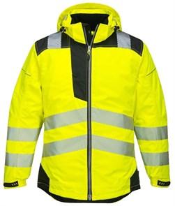Сигнальная утепленная куртка Portwest T400, Сигнально-желтый/черный