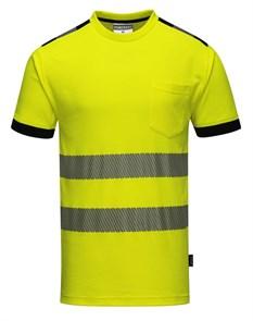 Футболка Portwest T181, желтый-черный