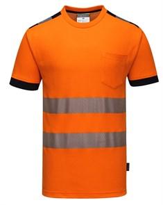 Футболка Portwest T181, оранжевый-черный