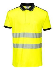 Футболка-поло Portwest T180, желтый-черный