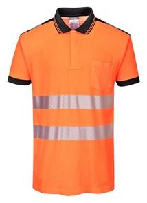 Футболка-поло Portwest T180, оранжевый-черный