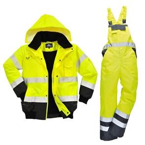 Зимний костюм Portwest c465 + s489 желтый/черный