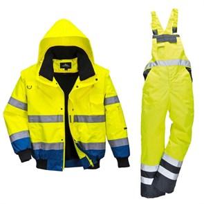 Зимний костюм Portwest c465 + s489 желтый/тёмно-синий