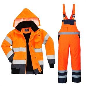 Зимний костюм Portwest c465 + s489 оранжевый