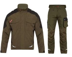Летний костюм Engel 1810-254 + 2810-254, хаки/черный