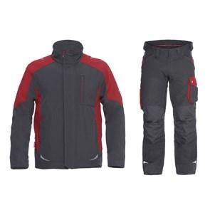 Летний костюм Engel 8810-229 + 2810-254, серый/красный