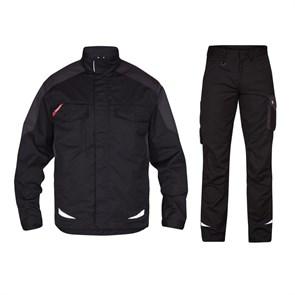Летний костюм Engel 1290-880 + 2290-880, черный/серый