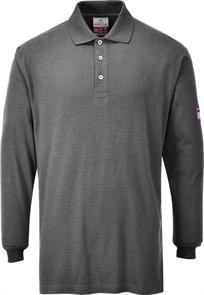 Огнезащитная антистатическая рубашка-поло Portwest FR10 Серый