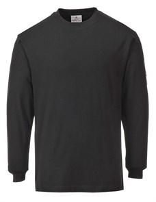 Огнестойкая антистатическая футболка с длинными рукавами Portwest FR11, Черный