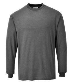 Огнестойкая антистатическая футболка с длинными рукавами Portwest FR11, Серый