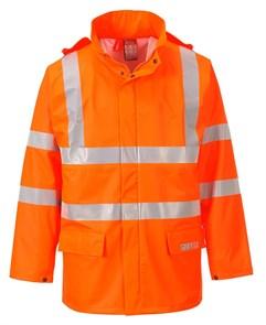 Огнеупорная антистатическая куртка-дождевик Portwest FR41. Оранжевый.
