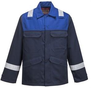 Антистатическая огнеупорная куртка Portwest FR55, Темно-синий/синий