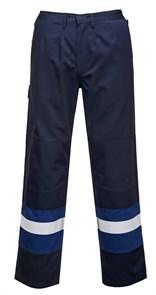 Антистатические огнеупорные брюки Portwest FR56, Темно-синий/синий