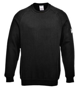 Огнестойкий антистатический свитер с длинными рукавами Portwest FR12. Черный.