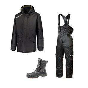 Зимний комплект спецодежды Dimex Extreme черный + 619/Sievi ALASKA XL+ S3HRO