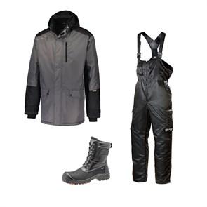 Зимний комплект спецодежды Dimex Extreme серый+ 619/Sievi ALASKA XL+ S3HRO