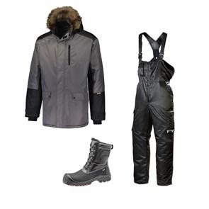 Зимний комплект спецодежды Dimex Extreme Plus серый + 619/Sievi ALASKA XL+ S3HRO