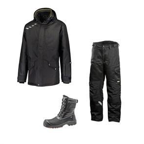 Зимний комплект спецодежды Dimex Extreme черный + 682/Sievi ALASKA XL+ S3HRO