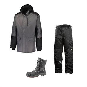 Зимний комплект спецодежды Dimex Extreme серый + 682/Sievi ALASKA XL+ S3HRO