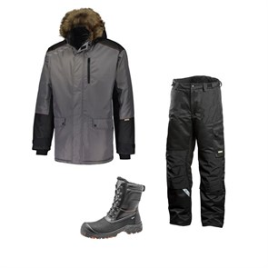 Зимний комплект спецодежды Dimex Extreme Plus серый + 682/Sievi ALASKA XL+ S3HRO