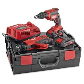 Аккумуляторный шуруповерт для гипсокартона Flex 18,0 В с насадкой с ленточным магазином для шурупов DW 45 18.0-EC M/2.5 Set