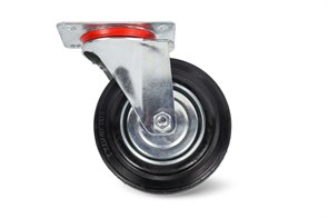 Колесо поворотное резина SC 55 125мм (C-3302-SLS-125)