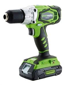 Дрель-шуруповерт ударная аккумуляторая Greenworks G24CD