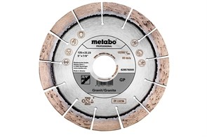 Алмазный отрезной круг 125x22,23мм, «GP», для гранита «professional», Metabo, 628576000