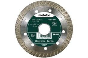 Алмазный отрезной круг 115x22,23мм, «SP-UT», универсальный Turbo «SP», Metabo, 628551000