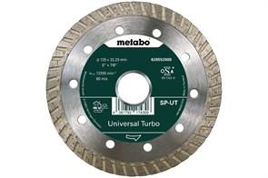 Алмазный отрезной круг 125x22,23мм, «SP-UT», универсальный Turbo «SP», Metabo, 628552000