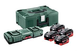 Базовый комплект 4 x LiHD 8,0А·ч + ASC 145 Duo + Metaloc, Metabo, 685135000