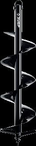 Шнек для мотобуров, грунт, d=80 мм, однозаходный, ЗУБР